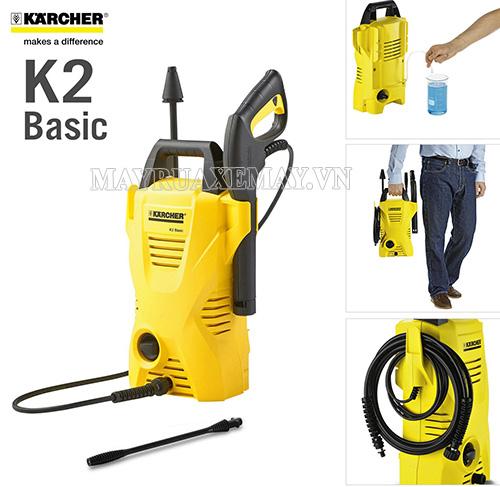 Vì sao các gia đình lựa chọn máy rửa xe Karcher K2 Basic?