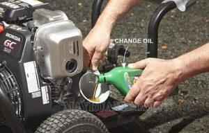 Thay dầu định kỳ ngăn ngừa nguy cơ máy rửa xe không lên nước
