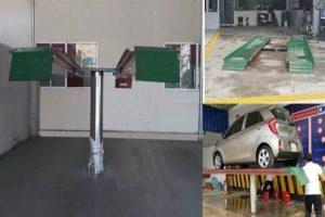 Cầu nâng một trụ - thiết bị không thể thiếu trong trạm rửa xe