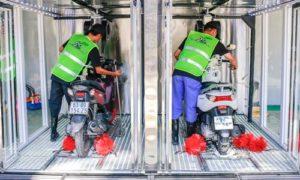 Hệ thống rửa xe máy tự động không yêu cầu diện tích quá rộng