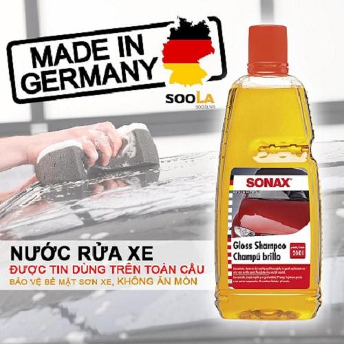 Nước rửa xe ô tô Sonax được khá nhiều người dùng lựa chọn