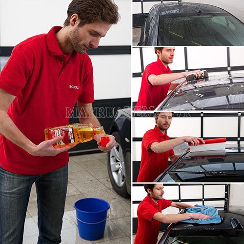 Đáp án cho câu hỏi rửa xe ô tô bằng gì chính là sử dụng hóa chất chuyên dụng