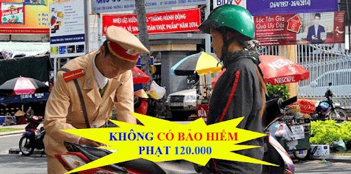 Mức phạt đối với người không có bảo hiểm xe máy là từ 80.000 – 120.000 đồng