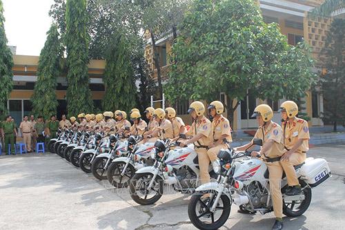 Xe máy chuyên dùng của cảnh sát giao thông