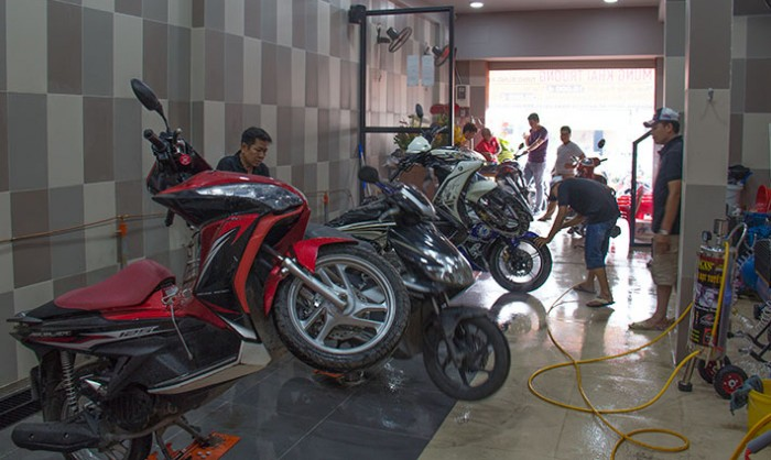 Lựa chọn mặt bằng khi mở tiệm rửa xe máy