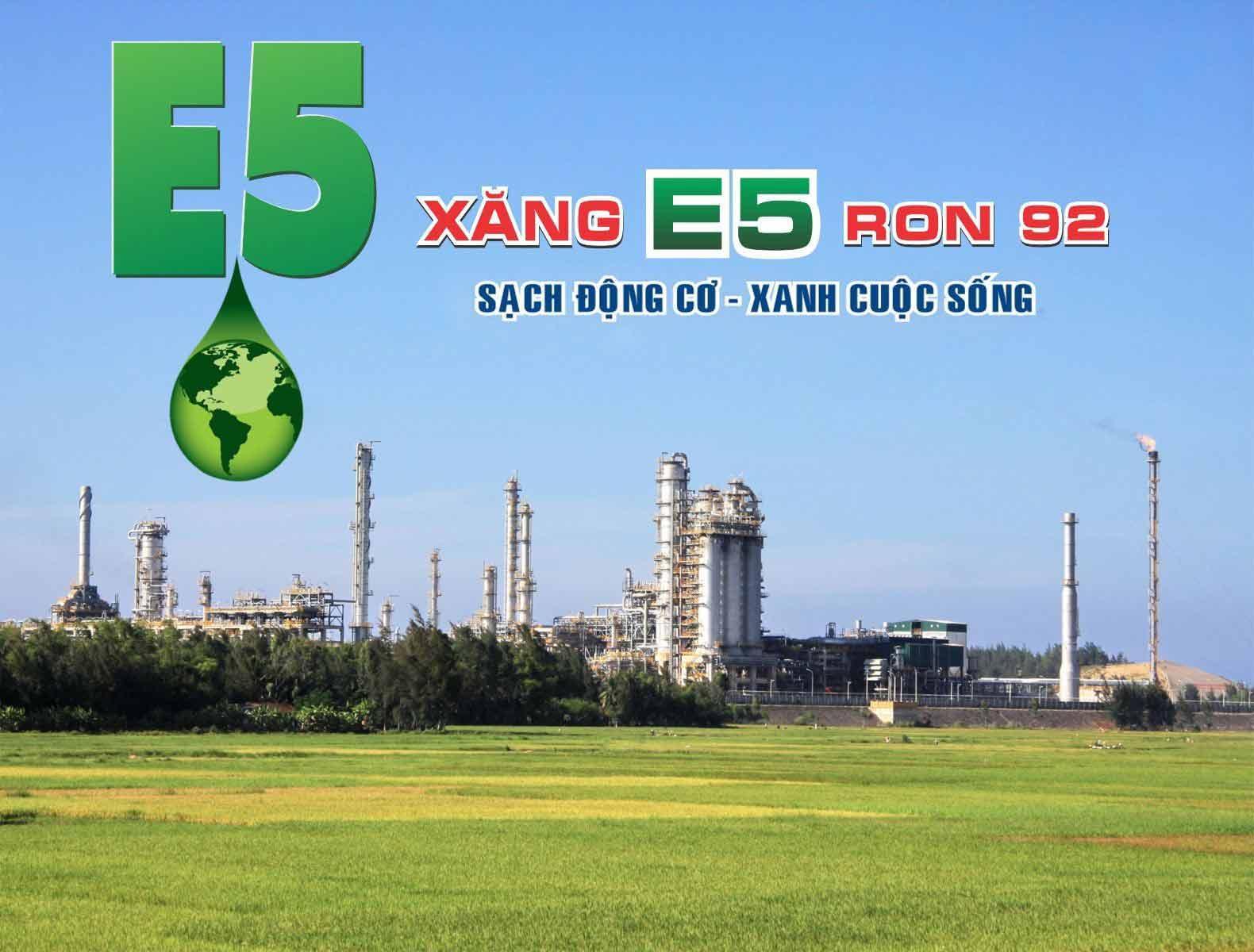 Xăng E5 thân thiện với môi trường