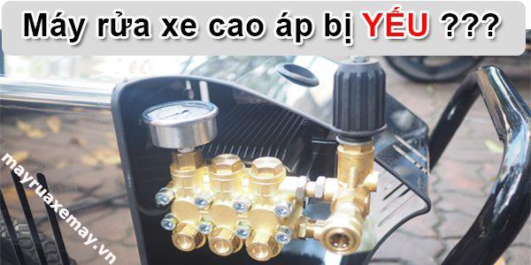 Sửa máy rửa xe bị yếu