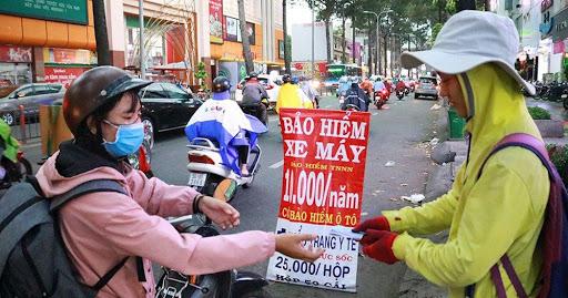 Người đi đường thường nhầm tưởng bảo hiểmdành cho xe máy như nhau