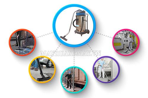 Máy hút bụi công nghiệp được ứng dụng rất rộng rãi
