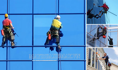 Quy trình lau kính tòa nhà đúng chuẩn