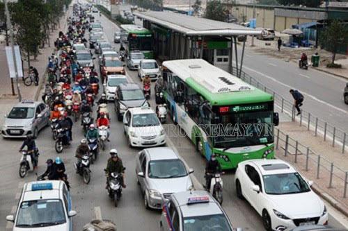 lỗi sai làn BRT bị xử phạt ra sao