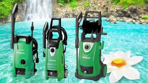 máy rửa xe gia đình hitachi