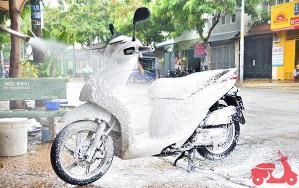 khắc phục xe máy bị ngập trong nước