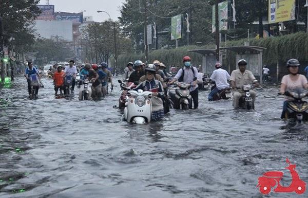 xe bị ngập nước có sao không