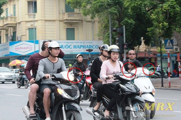 xe máy không gương phạt bao nhiêu