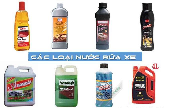 Các loại nước rửa xe ô tô chuyên dụng phổ biến hiện nay