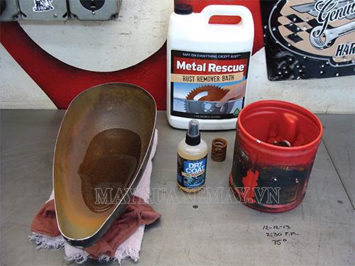 Các chất tẩy rỉ sét xe máy được sử dụng nhiều nhất hiện nay