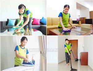 Dịch vụ vệ sinh theo giờ giúp khách hàng tiết kiệm thời gian