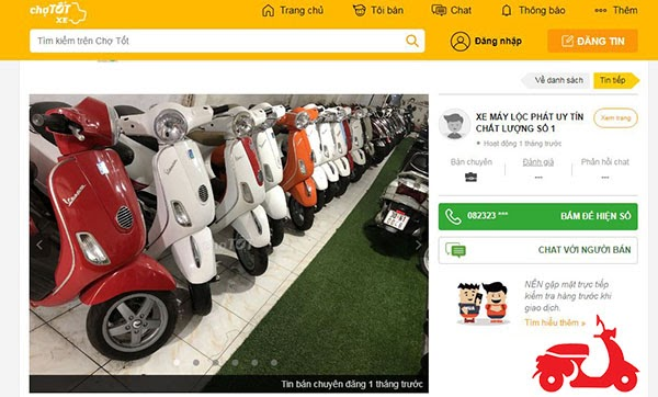 có nên mua xe máy cũ trên chợ tốt