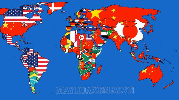 Trên thế giới có bao nhiêu nước (quốc gia) và vùng lãnh thổ?