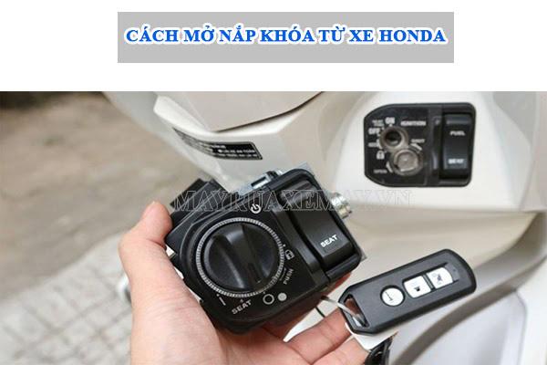 cách mở nắp khóa từ xe Honda