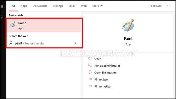cách chụp màn hình laptop bằng paint
