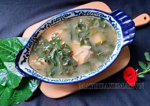Món lá lốt nấu canh cá lóc